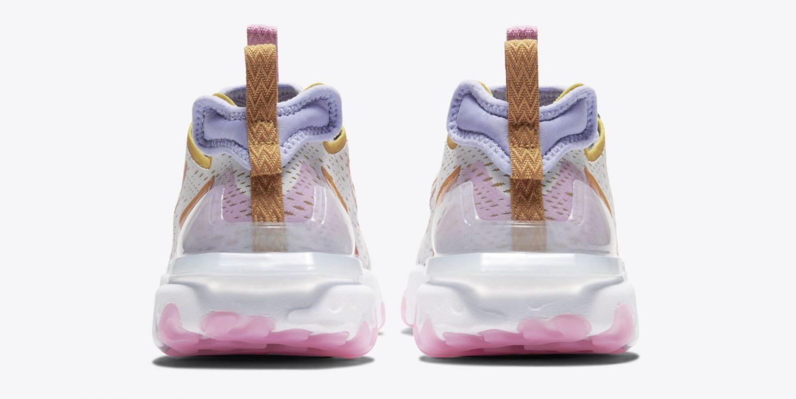 Nike React Vision Platinum Pink | CI7523-003 heel