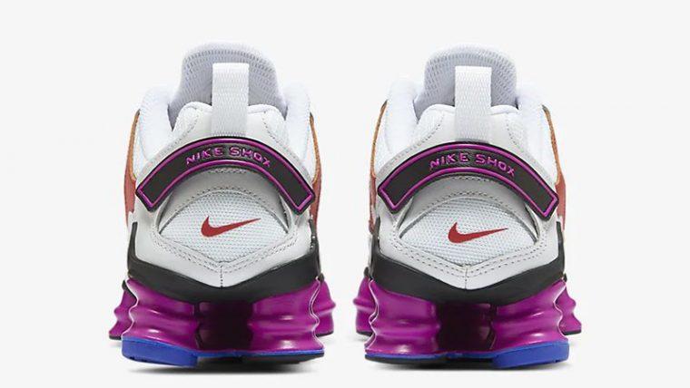 Nike Shox TL Nova White Violet AT8046-100 back thumbnail image