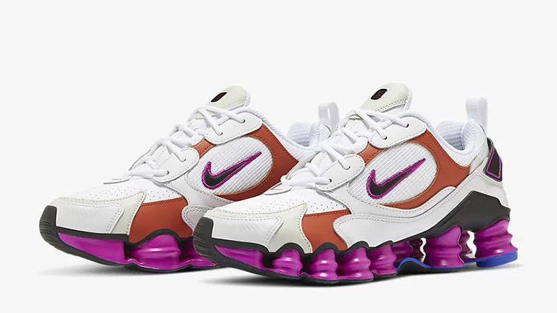 Nike Shox TL Nova White Violet AT8046-100 front