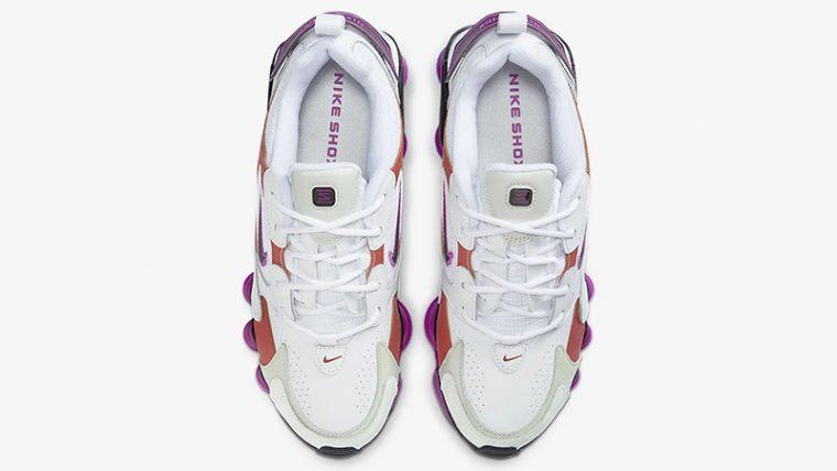 Nike Shox TL Nova White Violet AT8046-100 middle thumbnail image