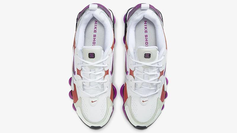 Nike Shox TL Nova White Violet AT8046-100 middle