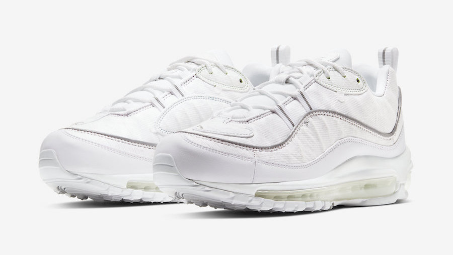 Nike. Air Max 98 Tear Away white front