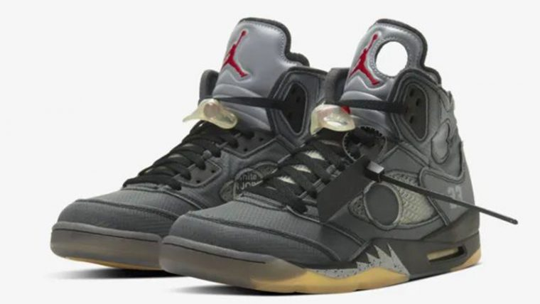 Off-White x Jordan 5 Black CT8480-001 front thumbnail image