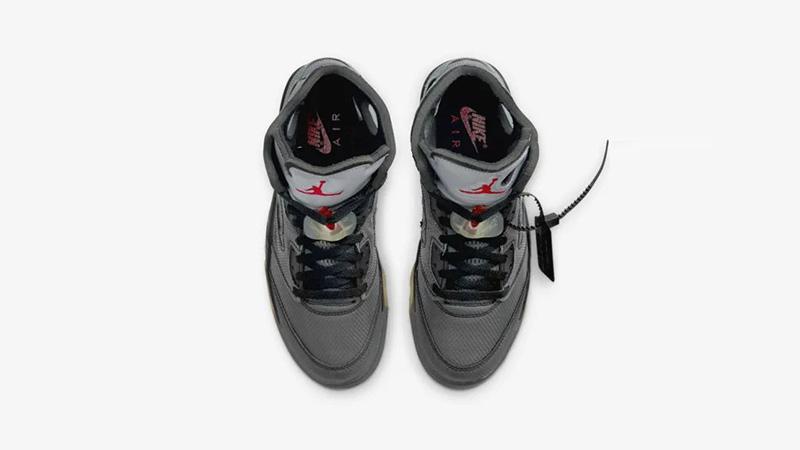 Off-White x Jordan 5 Black CT8480-001 middle