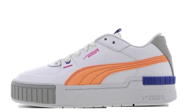 PUMA Cali White Fizzy Orange 374478-01