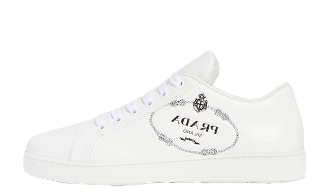 Prada Logo Embossed White