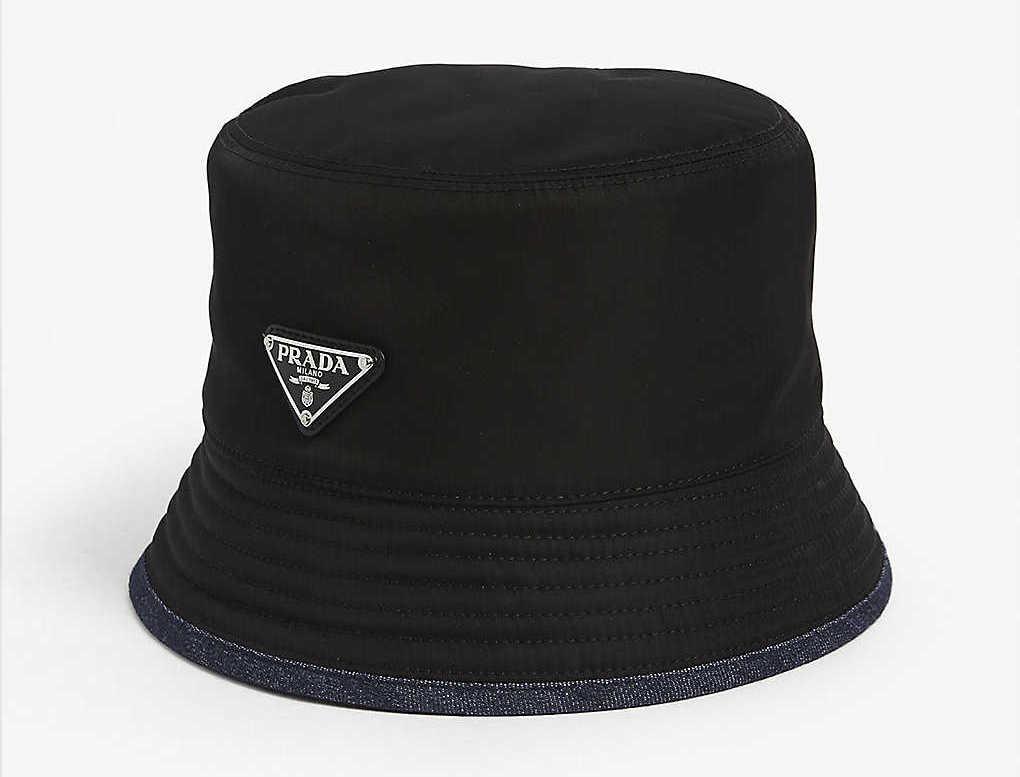 Prada Triangle Logo Bucket Hat