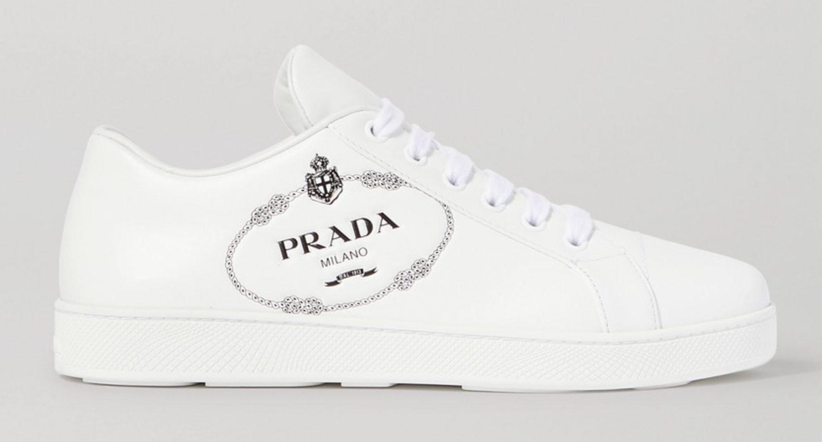 Prada White Print
