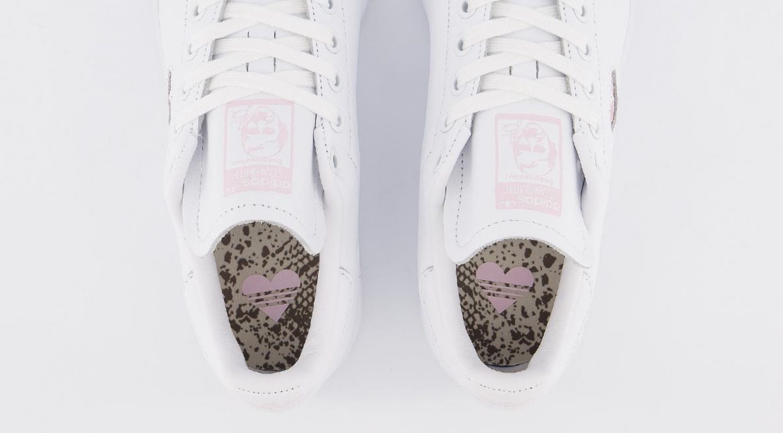 This Pretty Pink Heart adidas Stan Smith 'Valentine's Day' Just Dropped! insole