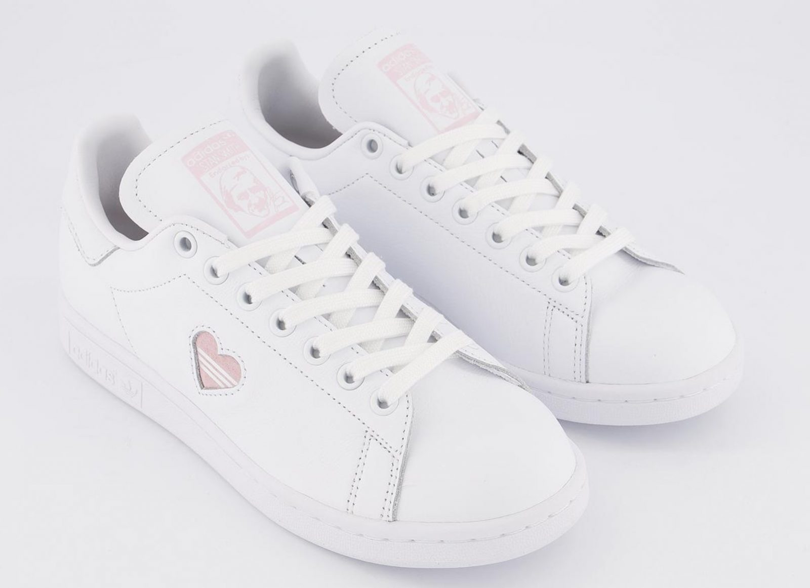 This Pretty Pink Heart adidas Stan Smith 'Valentine's Day' Just Dropped! lacces