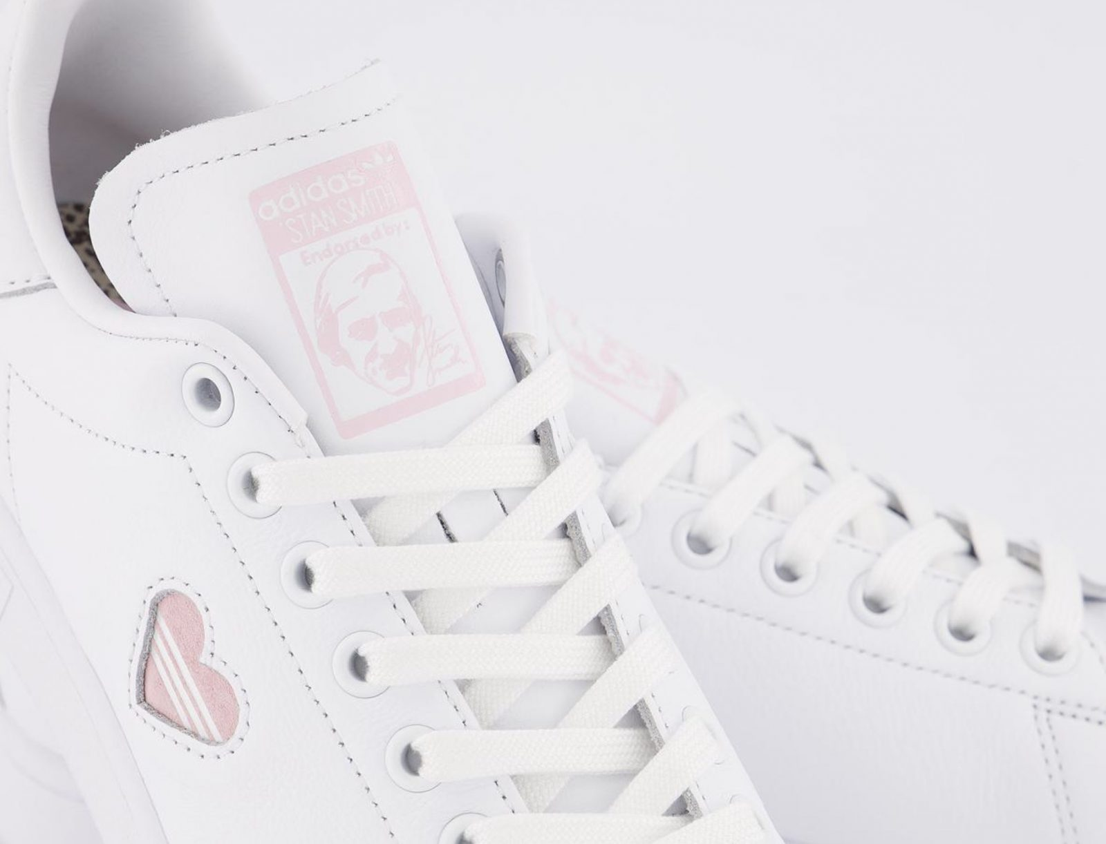 This Pretty Pink Heart adidas Stan Smith 'Valentine's Day' Just Dropped! tongue