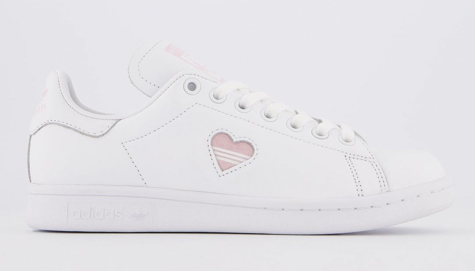 This Pretty Pink Heart adidas Stan Smith 'Valentine's Day' Just Dropped! right