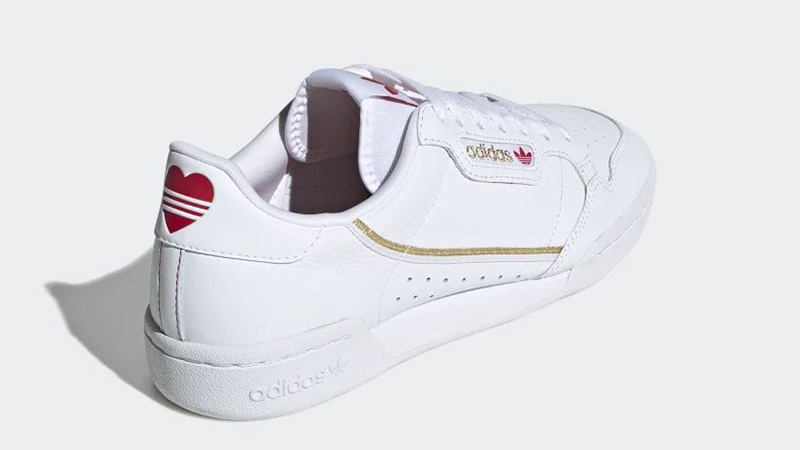 adidas Continental 80 Valentines Day White FW6391 back
