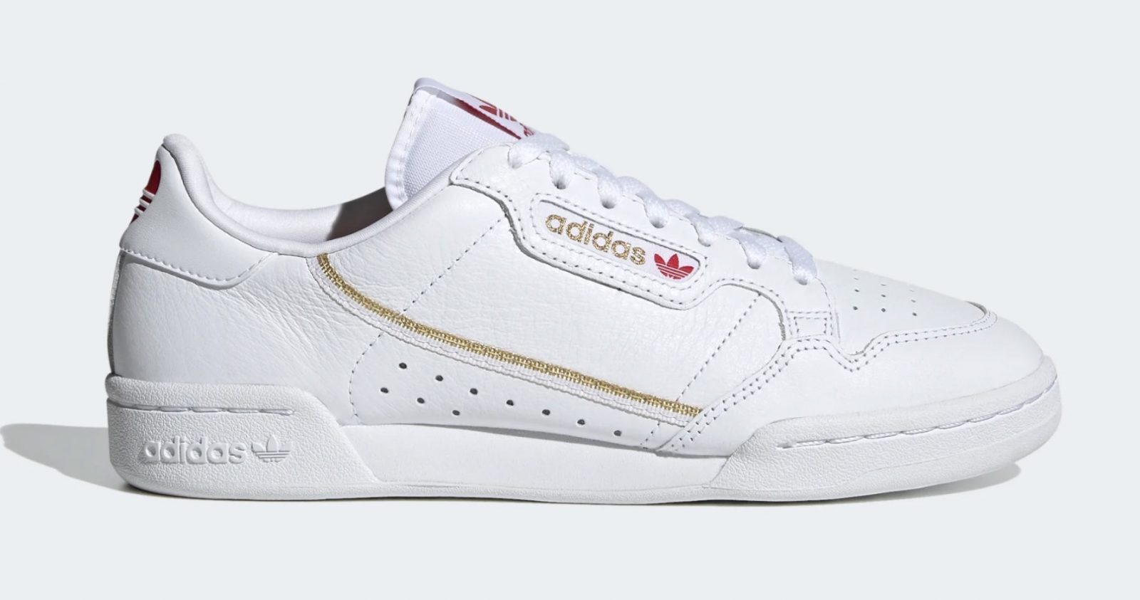 adidas Continental 80 White Red Heart 2