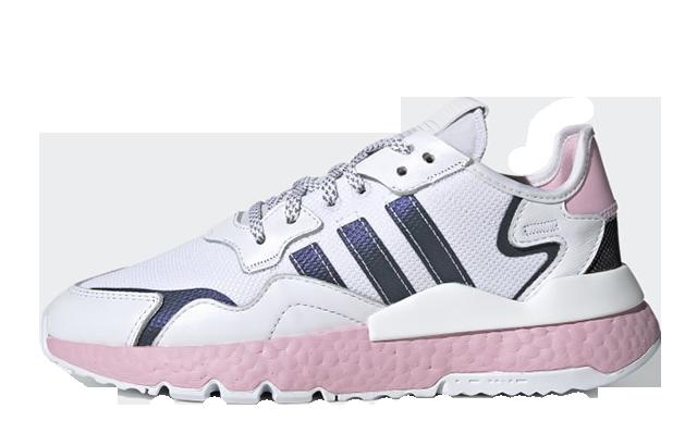 adidas Nite Jogger White Pink EG7942