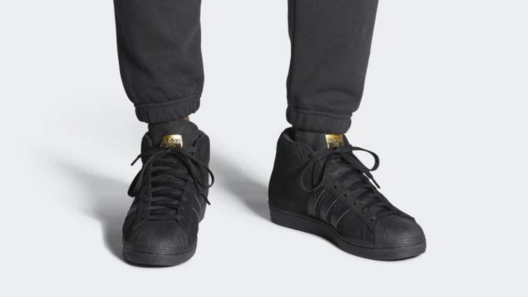 adidas Pro Black Gold FV4694 on foot thumbnail image