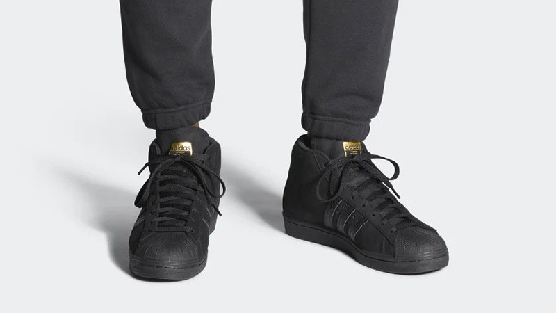 adidas Pro Black Gold FV4694 on foot