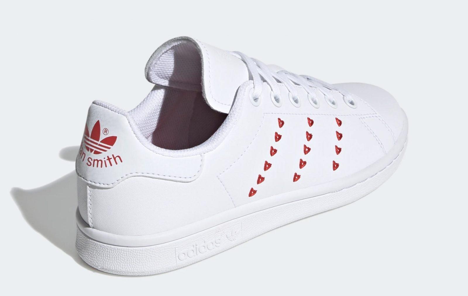adidas Stan Smith Valentines Heart | EG6495 5 heel