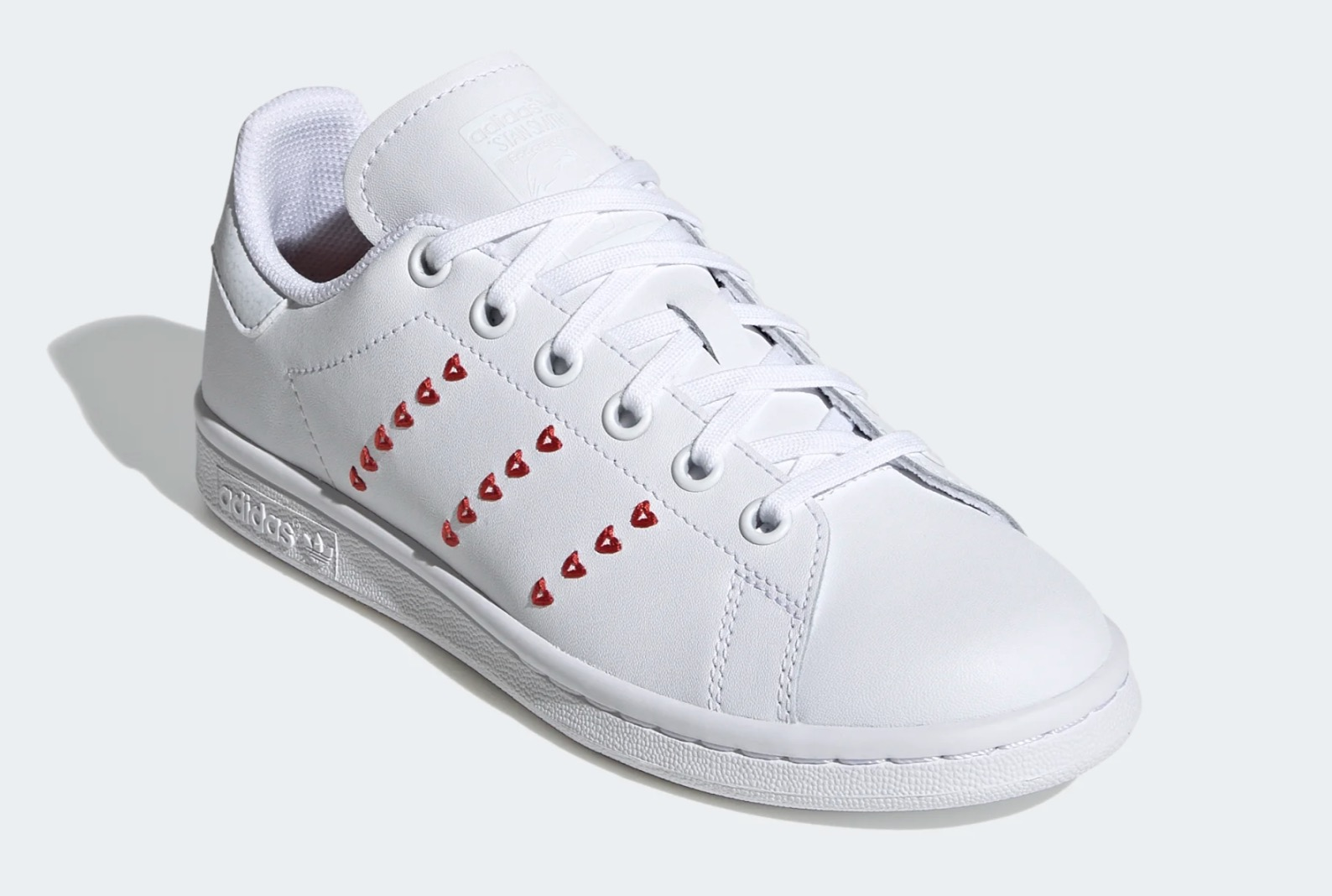 adidas Stan Smith Valentines Heart | EG6495 5 laces