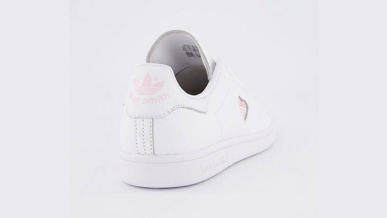 adidas Stan Smith White Clear Pink Heart Gold back thumbnail image