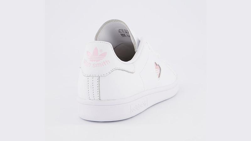 calidad asombrosa ofertas exclusivas recogido adidas Stan Smith White Clear Pink Heart Gold | The Sole Womens