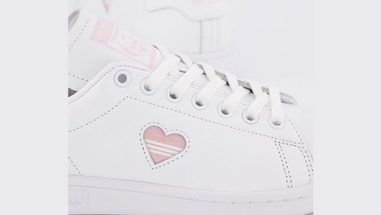 adidas Stan Smith White Clear Pink Heart Gold side thumbnail image