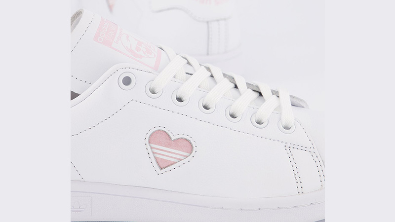 adidas Stan Smith White Clear Pink Heart Gold side