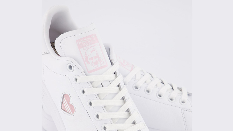 adidas Stan Smith White Clear Pink Heart Gold tongue