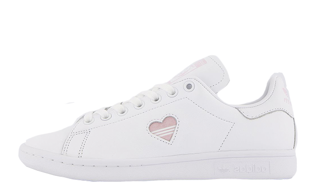 adidas Stan Smith White Clear Pink Heart Gold