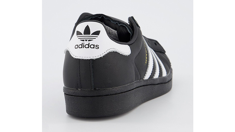 adidas Superstar Black White back