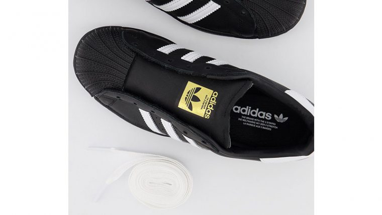 adidas Superstar Black White miidle thumbnail image