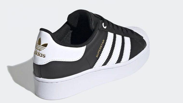adidas Superstar Bold Black White FV3335 back thumbnail image