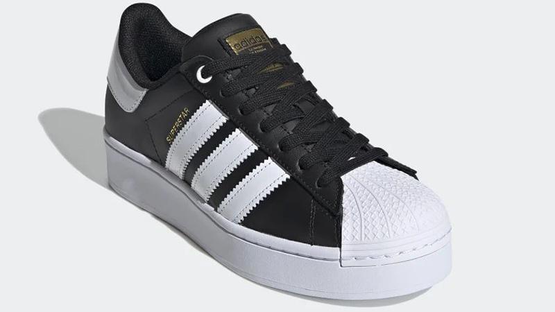 adidas Superstar Bold Black White FV3335 front