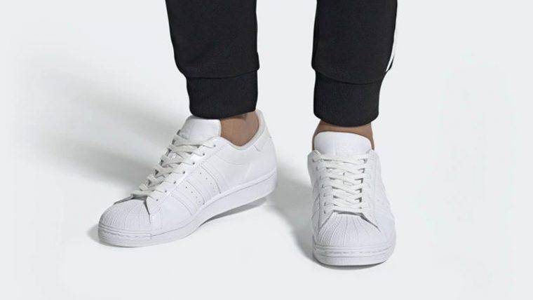 adidas Superstar Cloud White EG4960 on foot thumbnail image