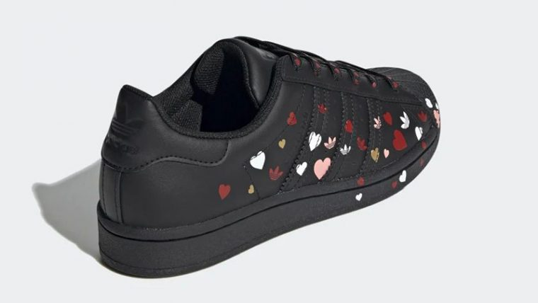 adidas Superstar Valentines Day Black FV3288 back thumbnail image