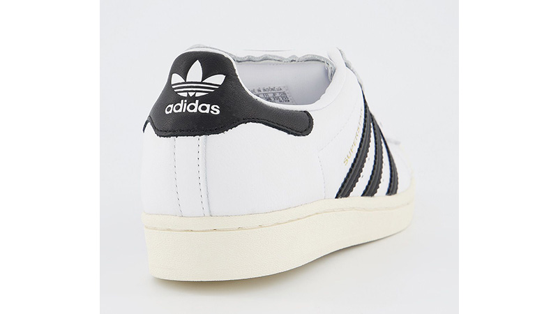 adidas Superstar White Black back