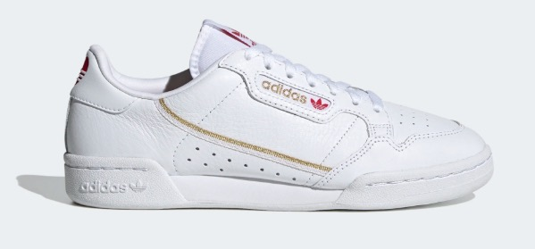 adidas. Continental 80. white red