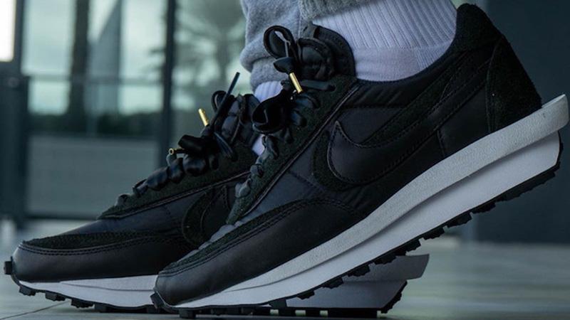 sacai x Nike LDWaffle Black BV0073-002 front