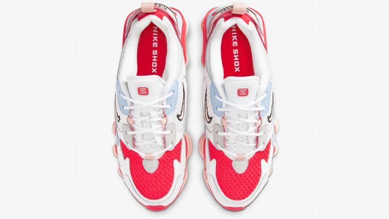 Nike Shox Nova Crimson Hydrogen Blue CV3602-101 laces thumbnail image