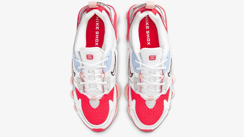 Nike Shox Nova Crimson Hydrogen Blue CV3602-101 laces
