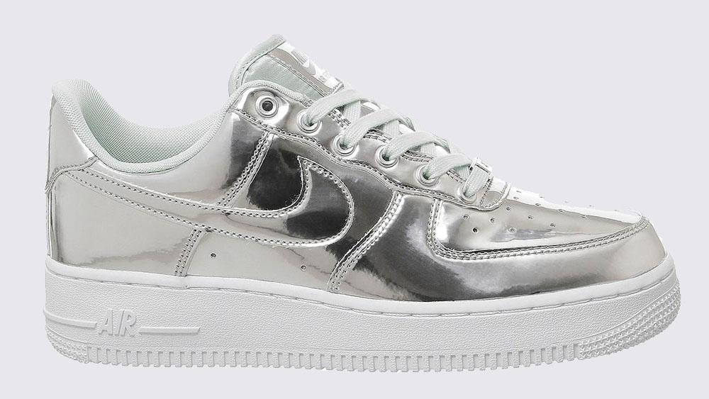 Nike Air Force 1 Metallic Silver