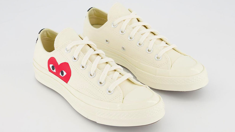 COMME des GARCONS Play x Conoverse Chuck 70 Low Heart White