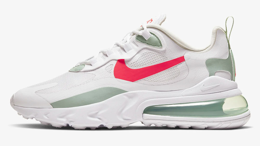 Nike Air Max 270 React Pistachio Frost Crimson