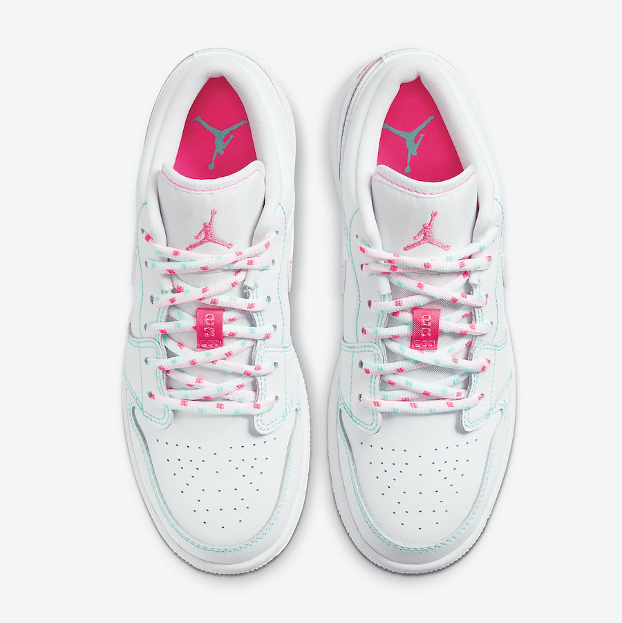Air-Jordan-1-Low-GS-554723-101-Release-Date-2 laces