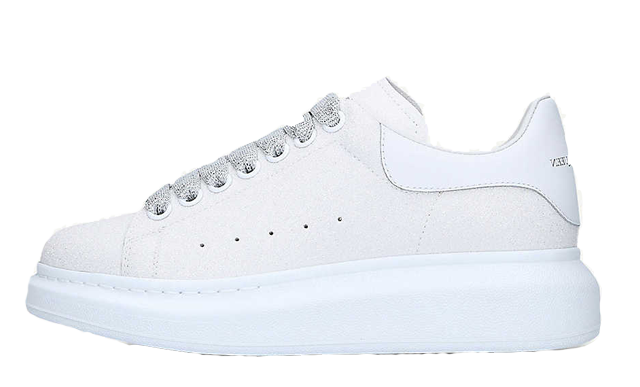 Alexander McQueen Runway Glitter White