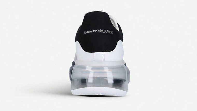 Alexander McQueen Runway Leather White Black Back thumbnail image