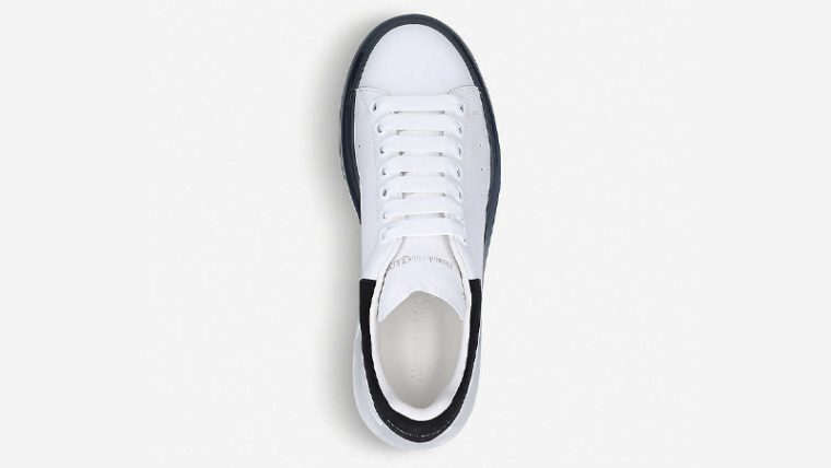 Alexander McQueen Runway Leather White Black Middle thumbnail image