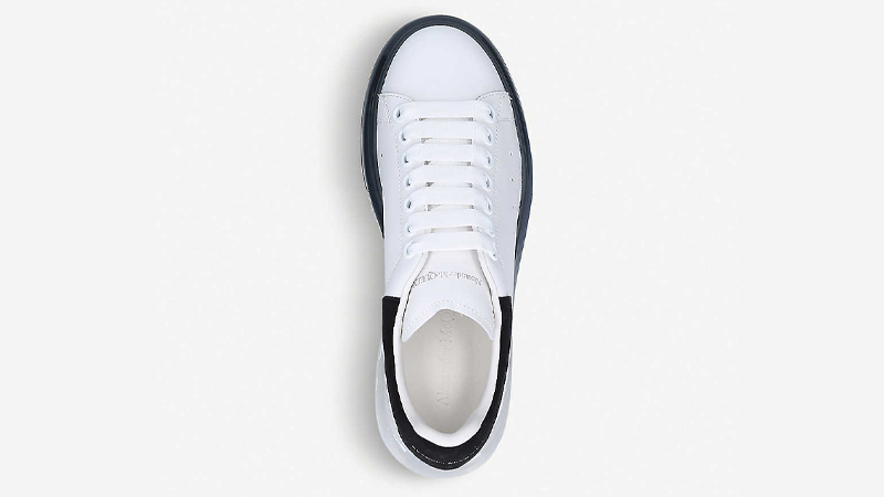 Alexander McQueen Runway Leather White Black Middle