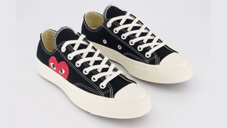 Comme des Garcons Play x Converse Chuck Taylor All Star 70 Low Black Front thumbnail image