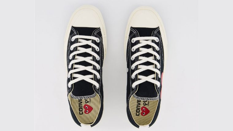 Comme des Garcons Play x Converse Chuck Taylor All Star 70 Low Black Middle thumbnail image